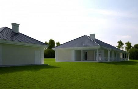 SIELANKA 30 st. wersja B dach 4-spadowy z podwójnym garażem