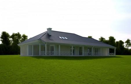 SUPERNOVA wersja C z pojedynczym garażem i wiatą