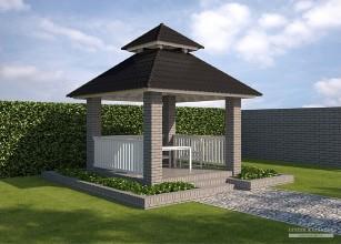 LK&A2 projekt altany ogrodowej