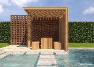 LK&A1projekt altany ogrodowej