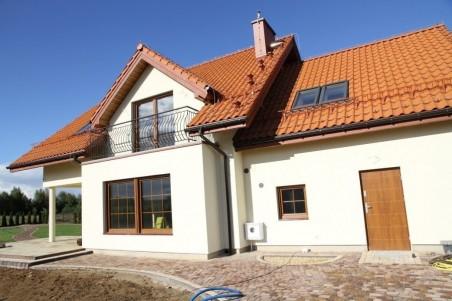 NINA 2 PLUS wersja D poj.garaż i kotł. z podwyższonym dachem, strop Teriva, paliwo stałe