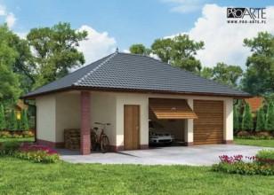 G33 garaż dwustanowiskowy z...