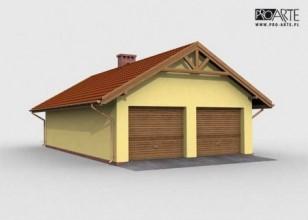 G1m garaż dwustanowiskowy z...