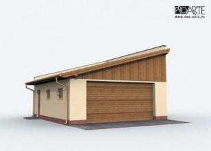 G129 garaż dwustanowiskowy...