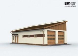 G161 garaż czterostanowiskowy