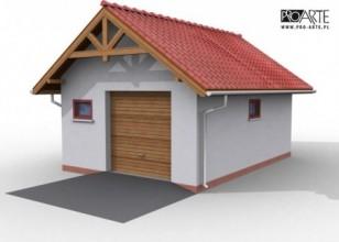 G9 szkielet drewniany garaż