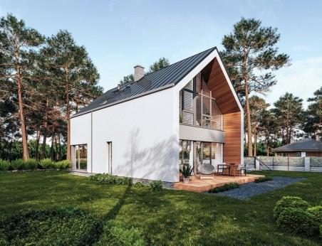 G84 garaż dwustanowiskowy z bali drewnianych